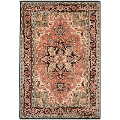 Larsen Hand-Knotted Beige/Orange Area Rug
