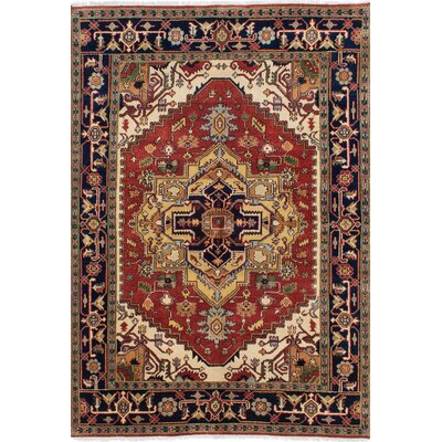 Serapi Heritage Hand-Knotted Dark Copper/Beige Area Rug