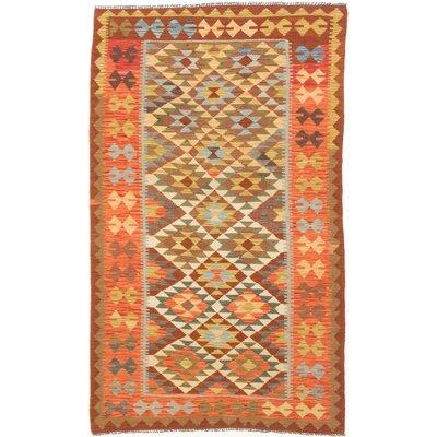 Anatolian Kilim Flat-Woven Beige/Orange Area Rug