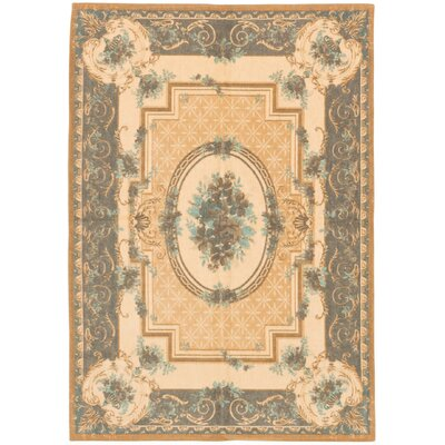 Royale Flat-Woven Beige/Gray Area Rug