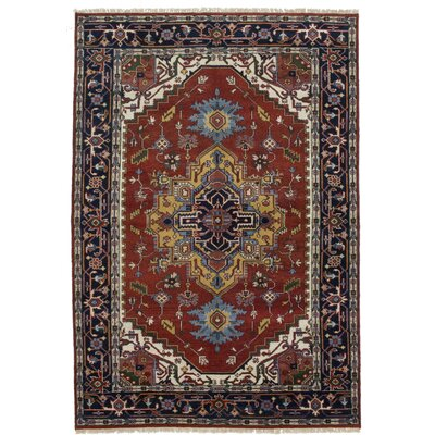 One-of-a-Kind Baldry Hand-Knotted Brown/Blue Area Rug