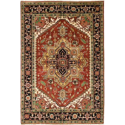 Serapi Heritage Hand-Knotted Dark Red/Black Area Rug
