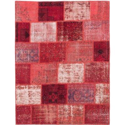 One-of-a-Kind Lecia Handmade Wool Dark Burgundy/Dark Red Area Rug