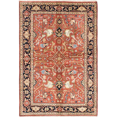 One-of-a-Kind Serapi Heritage Hand-Knotted Dark Copper/Beige Area Rug