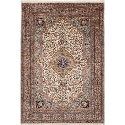 Jamshidpour Hand-Knotted Beige/Red Area Rug