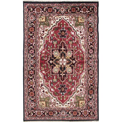 Bovell Hand-Knotted Red/Beige Area Rug
