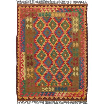 Fianna Kilim Flat-Woven Red/Green Area Rug