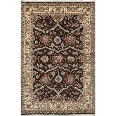 Jamshidpour Hand-Knotted Brown/Beige Area Rug