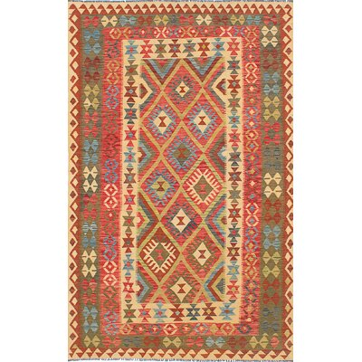 Valasco Flat-Woven Bright Red/Beige Area Rug