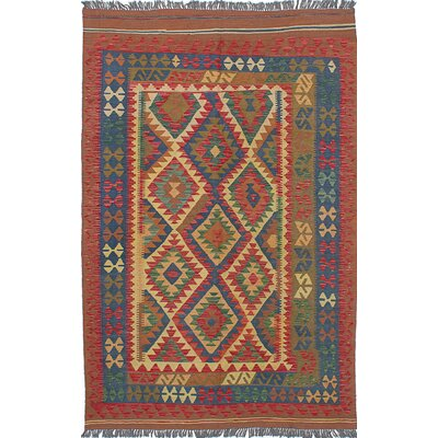 Fianna Kilim Flat-Woven Blue/Red Area Rug