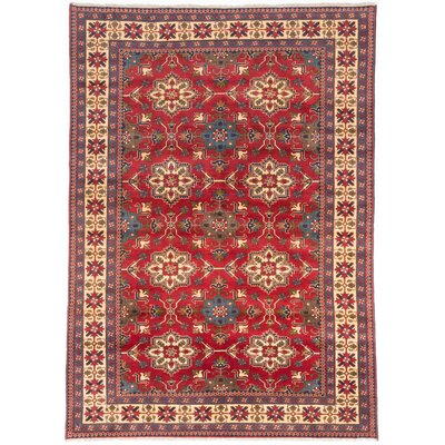 Bunkerville Hand-Knotted Dark Red/Blue Area Rug