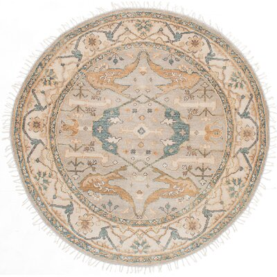 Royal Ushak Hand-Knotted Light Gray/Beige Area Rug