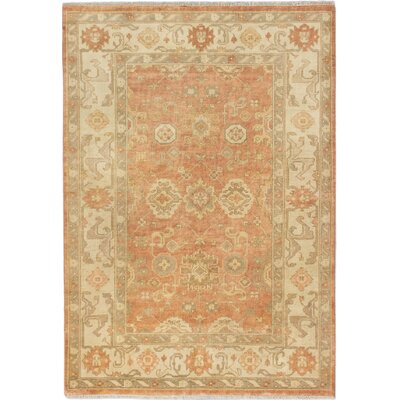 Royal Ushak Hand-Knotted Beige/Orange Area Rug