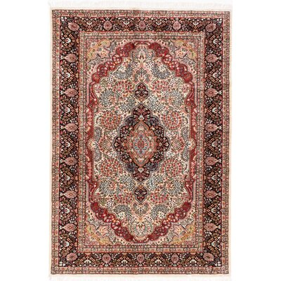One-of-a-Kind Orangetree Traditional Hand-Knotted Beige/Red Area Rug