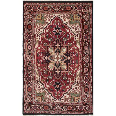 Larsen Hand-Knotted Red/Black Area Rug