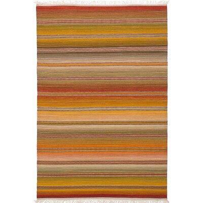 Izmir Kilim Flat-Woven Dark Red/Orange Area Rug
