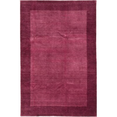 Luribaft Gabbeh Riz Hand-Knotted Burgundy/Salmon Area Rug