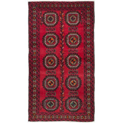 One-of-a-Kind Finest Baluch Hand-Knotted Red Area Rug