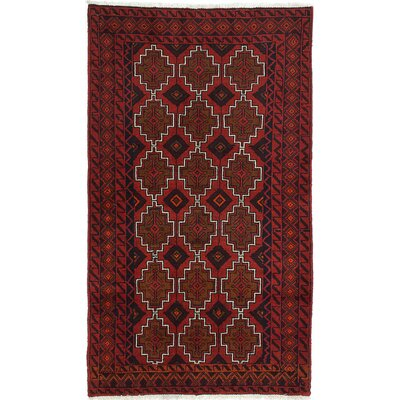 One-of-a-Kind Finest Baluch Wool Hand-Knotted Dark Copper Area Rug
