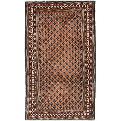 Finest Baluch Wool Hand-Knotted Orange Area Rug