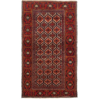 Finest Baluch Wool Hand-Knotted Dark Copper Area Rug