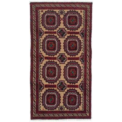 One-of-a-Kind Finest Baluch Wool Hand-Knotted Camel Area Rug