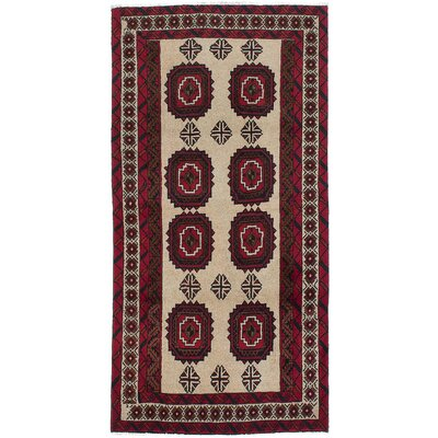 One-of-a-Kind Finest Baluch Wool Hand-Knotted Ivory Area Rug
