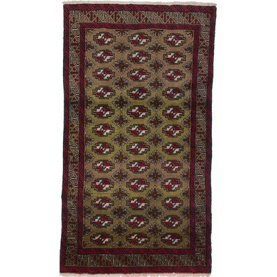 One-of-a-Kind Finest Baluch Wool Hand-Knotted Brown Area Rug