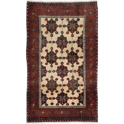 One-of-a-Kind Finest Baluch Wool Hand-Knotted Cream Area Rug