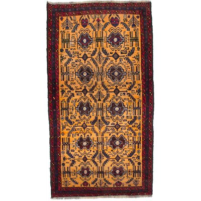 Finest Baluch Wool Hand-Knotted Copper Area Rug