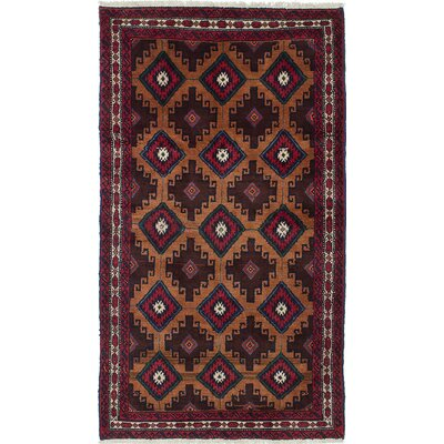 One-of-a-Kind Finest Baluch Hand-Knotted Red/Brown Area Rug