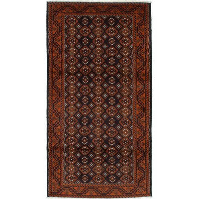 Finest Baluch Wool Hand-Knotted Copper/Dark Navy Area Rug