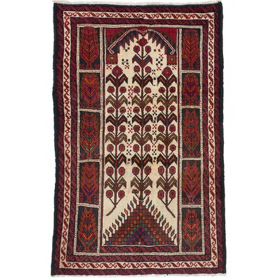 Finest Baluch Wool Hand-Knotted Cream Area Rug