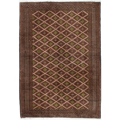Finest Baluch Wool Hand-Knotted Brown/Ivory �Area Rug
