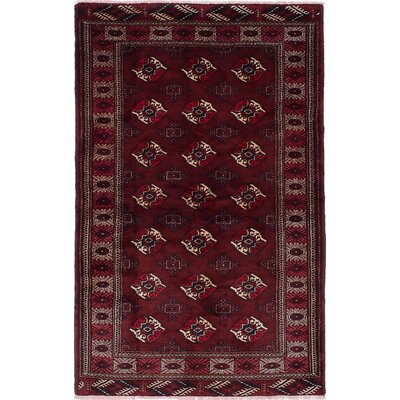 One-of-a-Kind Finest Baluch Wool Hand-Knotted Dark Orange/Red Area Rug