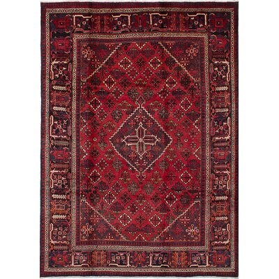 One-of-a-Kind Joshagan Wool Hand-Knotted Red Area Rug