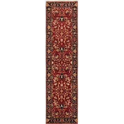 Serapi Heritage Wool Hand-Knotted Dark Red Runner