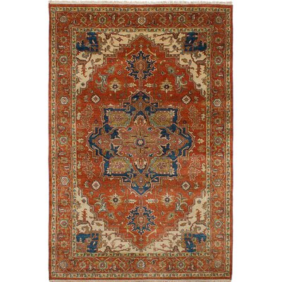 One-of-a-Kind Jules-Sultane Wool Hand-Knotted Dark Copper Area Rug