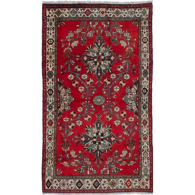 Roth Wool Hand-Knotted Red Area Rug