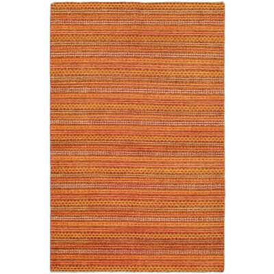One-of-a-Kind Ziegler Chobi Finest Wool Hand-Knotted Orange Area Rug