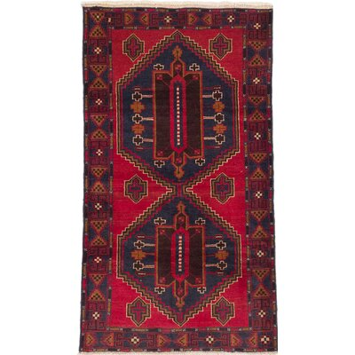 Royal Balouch Wool Hand-Knotted Dark Burgundy Area Rug