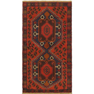 Bethany Rectangle Wool Hand-Knotted Red Indoor Area Rug