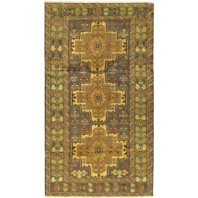 Finest Rizbaft Wool Hand-Knotted Navy Area Rug