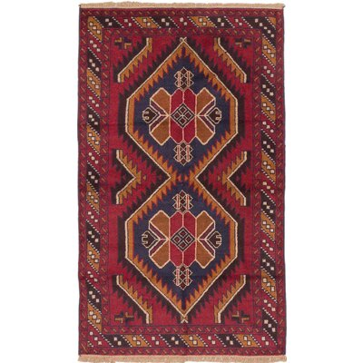 Bethany Rectangle Wool Hand-Knotted Red Area Rug