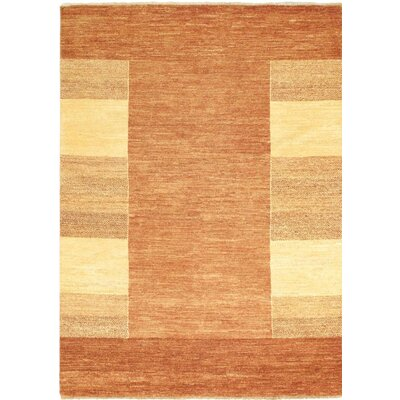 Ziegler Chobi Finest Wool Hand-Knotted Brown/Light Yellow Area Rug