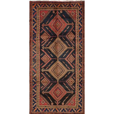 Koliai Wool Hand-Knotted Dark Navy Area Rug