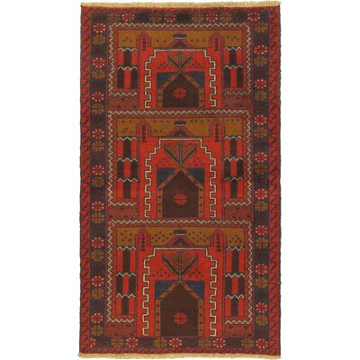 Herati Wool Hand-Knotted Red Area Rug