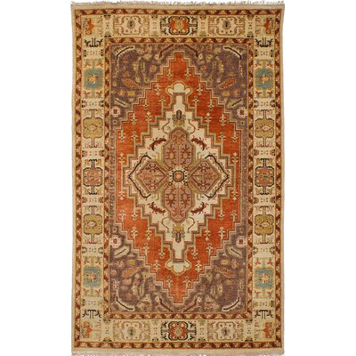 Jules-Sultane Wool Hand-Knotted Dark Brown/Dark Copper Area Rug