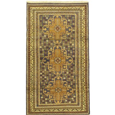 One-of-a-Kind Khandahar Finest Wool Hand-Knotted Brown/Green Area Rug
