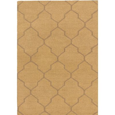 Trellis Wool Handmade Brown/Camel Area Rug